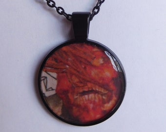 1 Strange Creature resin pendant necklace