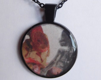 16 Strange Creature Collages resin pendant necklace