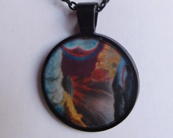 5 Strange Creature Collages resin necklace