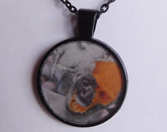 18 Strange Creature Collages resin pendant necklace