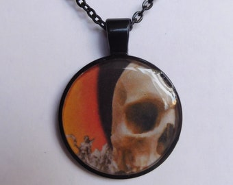 7 Strange Creature Collages resin pendant necklace