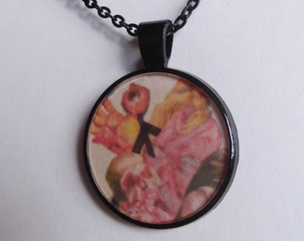 14 Strange Creature Collages resin pendant necklace