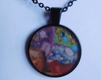 20 Strange Creature Collages resin pendant necklace