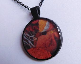 21 Strange Creature Collages resin pendant necklace
