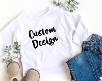 Custom Someone who Knows All Cotton Toddler Long Sleeve Ruffle Shirt Top