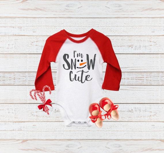 Kurzarm Baby-Shirt f/ür Jungen und M/ädchen Weihnachten Baby Mein 1 Weihnachten Schneemann