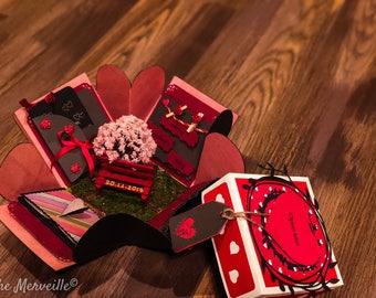 Gift For Him Valentines Gift Exploding Box Valentines Etsy