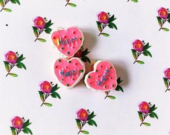 Heart Cake Cabochons/Kawaii/Decoden/Bakery