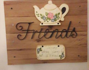 Friends Rustic Sign