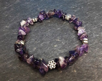 Chic bracelet with Amethystquarz