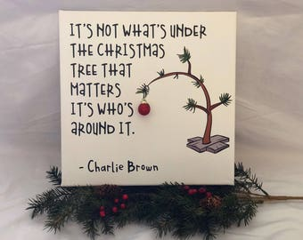 charlie brown christmas charlie brown tree charlie brown quote canvas art christmas decoration christmas gift