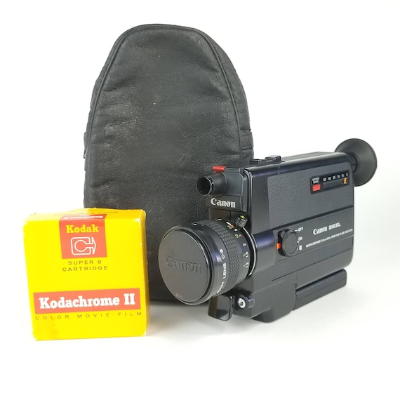 Canon 310 Xl Super 8 Camera Tested And Serviced   Options: Leather Bag, Lens Cap, Vintage Film, 1 Year Service Maintenance by Etsy