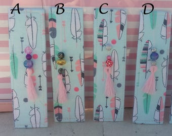 Reduced Price: Feather Fabric Bookmark