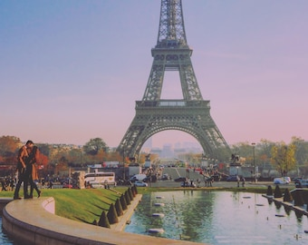 Love at the Eiffel Tower, Paris, Wall Art, Poster, Photography