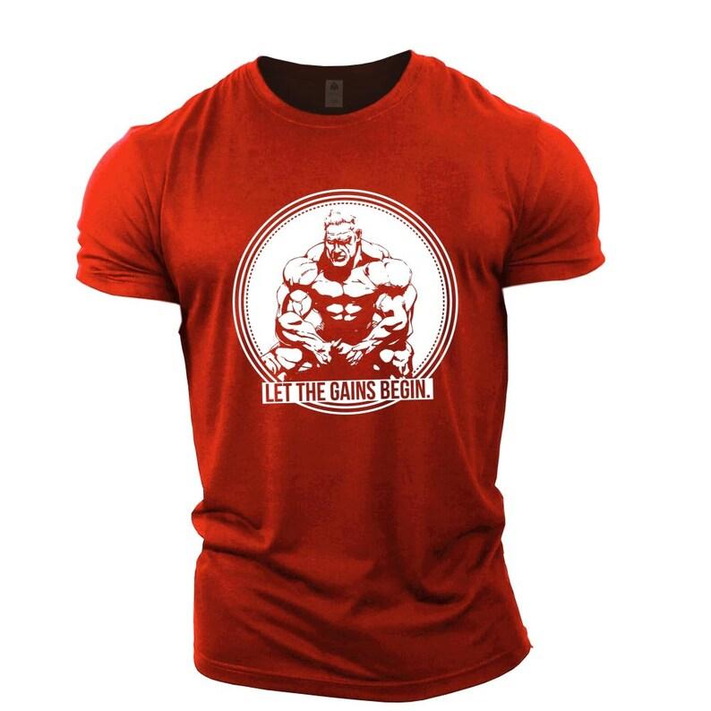 8db6c07ae Jay Cutler Let The Gains Begin Mens Bodybuilding T-Shirt Gym