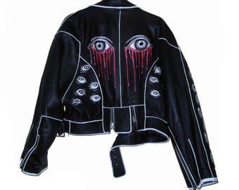 Eye vintage leather jacket