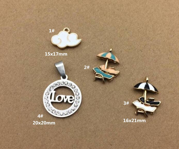 10Pcs Enamel Cute Mermaid Charm Pendant DIY Necklace Bracelet Craft Making Gift
