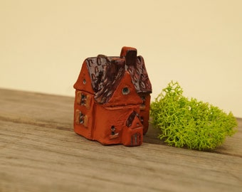 Tiny house Miniature  Unique ceramic sculpture  Gift for her  Hand Made Gift