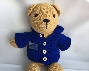 Bear with blue Jacket