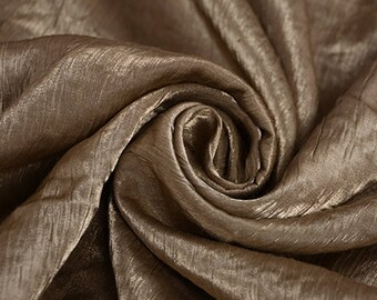 Silk linen fabric wrinkled solid color linen fabric breathable soft fabric linen organic fabric clothing fabric craft by yard