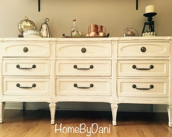 SOLD  Refinished dining room buffet