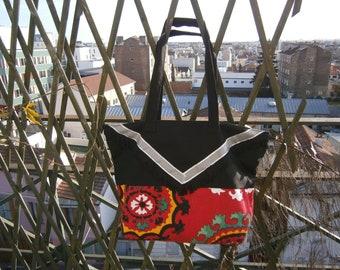 Tote bag red & Black