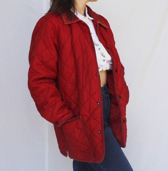 Vintage patchwork quilted coat with corduroy colla