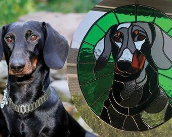Custom Stained Glass Pet Portraits - Perfect Gift for Birthday or Holiday