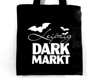 Help Support and Keep Alive Our Market with this Leipzig Dark Markt Black Tote Bag