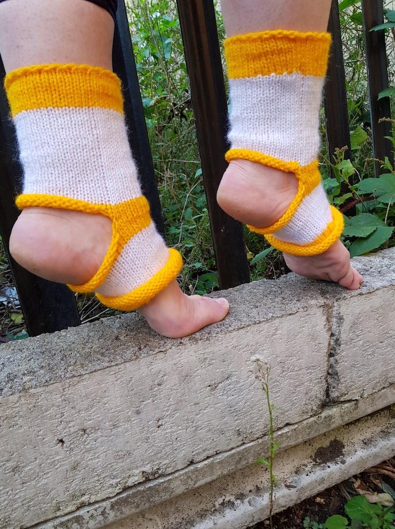 Gift For Her Hand Knitted Yoga Socks Short Fashion, Modern Toe Less Socks Dancer Socks Pilates Socks