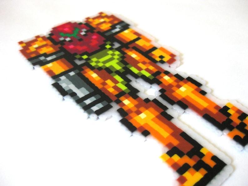 Samus Aran Perler Pixel Art