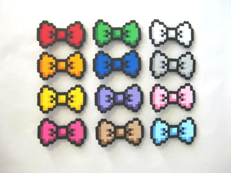5394e8999 Wearable 8-Bit Inspired Perler Bead Bows