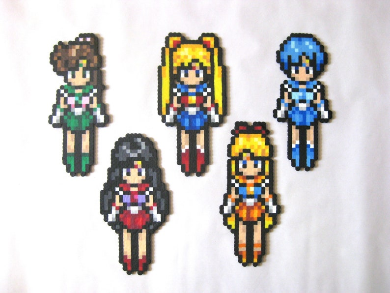 Sailor Moon Perler Bead Sprite Art