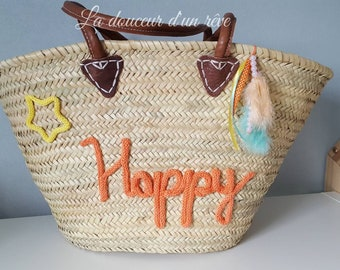 Wicker knitting pool work for fully customizable market tote bag