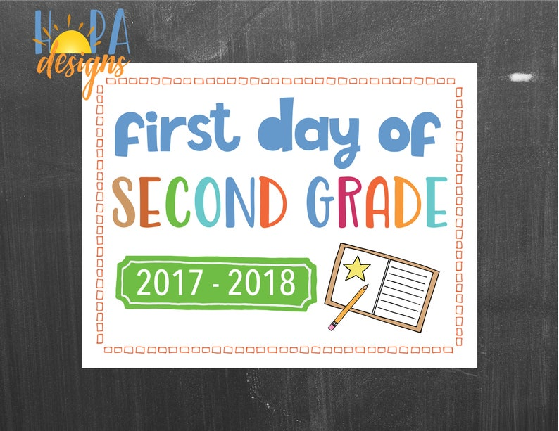graphic about First Day of 2nd Grade Printable Sign identify Initially Working day of 2nd Quality Indicator - 1st Working day of College or university Printable Signal - Image Props - Moment Quality Indicator - Quick Electronic Down load - Again in the direction of Higher education