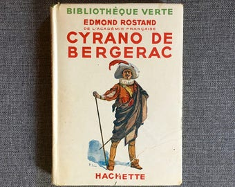 Cyrano de Bergerac Edmond Rostand Bibliothèque verte Hachette 1939