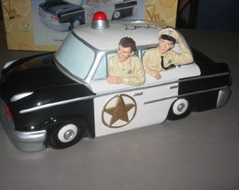 Andy Griffith Patrol Car Cookie Jar signed by Don Knotts