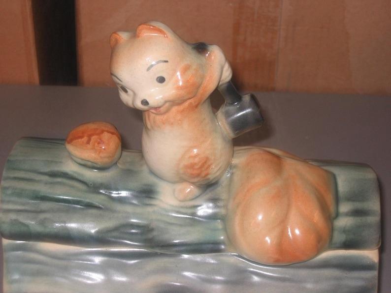 Squirrel on a Log Cookie Jar