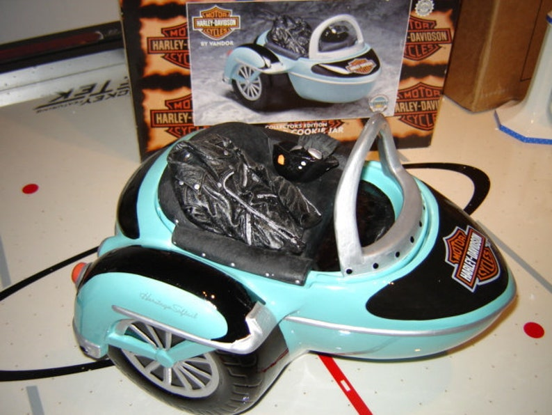 Harley Davidson Sidecar Cookie Jar