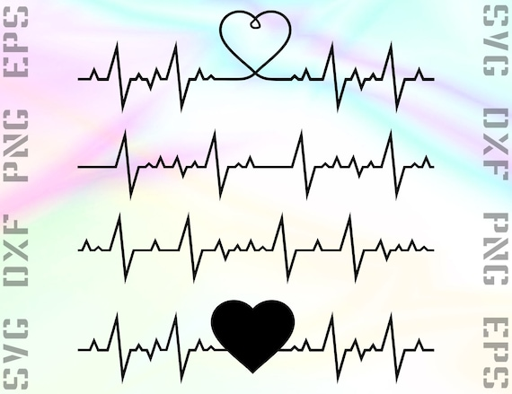 Ekg Svg File Ekg Cricut Svg Heartbeat Svg Heartbeat Etsy