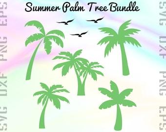 Palm SVG Files - Palm Clipart - Palm Cricut Files - Palm Tree Dxf Files - Palm Tree Cut Files - Tropical Palm Silhouette - Palm Png Files