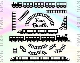 Train SVG Files - Train Dxf Files - Train Clipart - Train Cricut Files - Railway Cut Files - Train Png - Train Silhouette - Railway Files