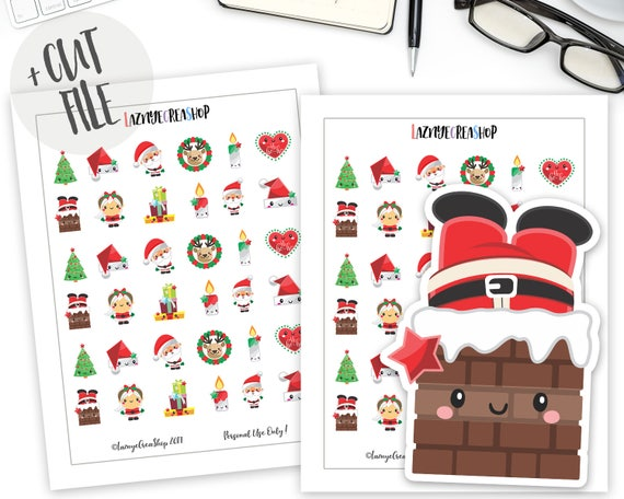 graphic about Printable Christmas Stickers identify Xmas Planner Stickers, Printable Xmas Stickers, Xmas Stickers, Kawaii Stickers, Planner Stickers, Bullet Magazine Stickers