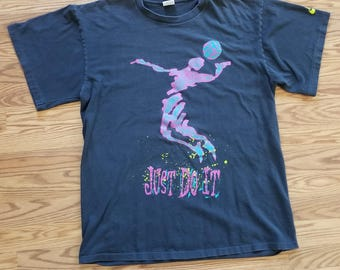 Vintage 80's/90's Nike Just Do It Volleyball T-shirt XXL