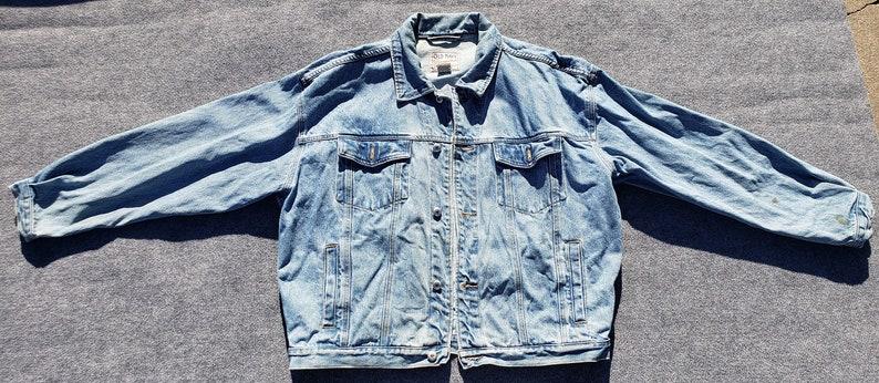 Alten Marine Latzhose Vintage 90er Jeansjacke Extra groß