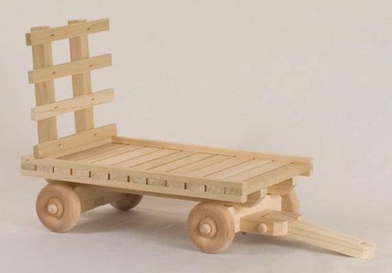 """Jouet de Amish chariot de foin en bois fait à la main. .. 10 """"L x 6» w. cadeau de Noël... jouet ferme.. .free livraison 48 inférieur"""