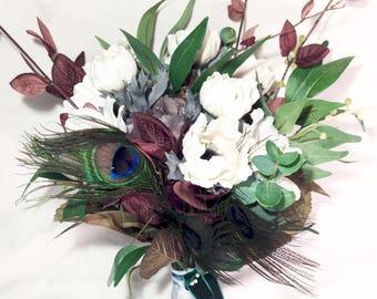 Emerald, Jade Bride & Bridesmaid Bouquet Set