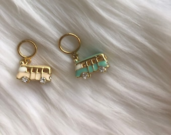 VW Van Stitch Markers- Gold stitch marker, Knitting Supplies, Knitting Notions, Knitting Accessories, Progress Keepers, Stitch Markers