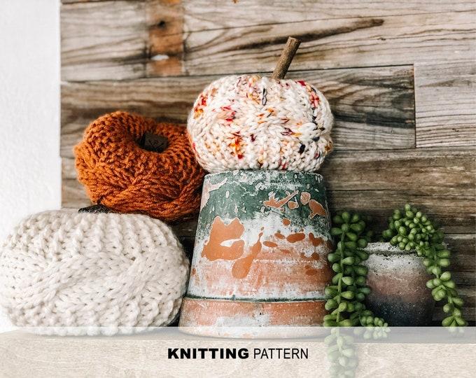 Featured listing image: Parkway Pumpkin-Knitting pattern
