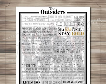 The Outsiders Quotes   The Outsiders Etsy